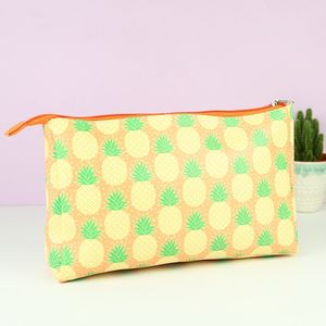 Pineapple Print Wash Bag
