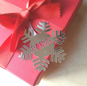 Personalised Snowflake Gift Tag - cards & wrap