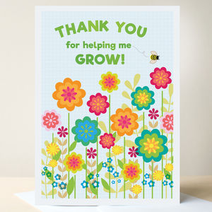 Thank You Teacher Card - thank you cards
