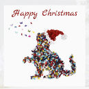Cat Christmas Card Pack, Five Butterfly Xmas Cards