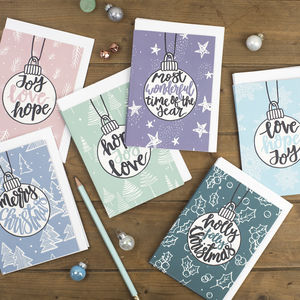 Full Collection Of Brush Lettered Christmas Cards