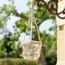 Hanging Glass Pot