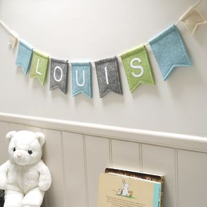 Personalised Felt Bunting - bunting & garlands