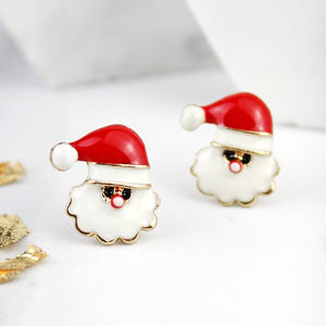Santa Claus Stud Earrings - earrings