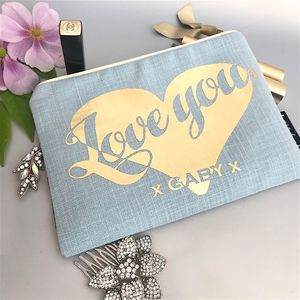 Duck Egg And Gold Make Up Bag - make-up bags