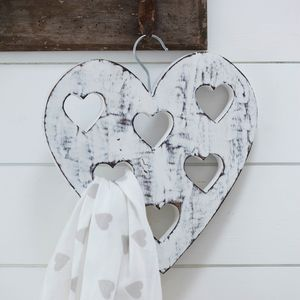 Heart Scarf Tidy - hooks, pegs & clips