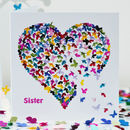 Sister Birthday Card, Sister Butterfly Card