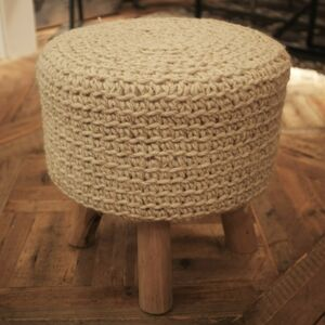 100% Wool Top Stools Natural