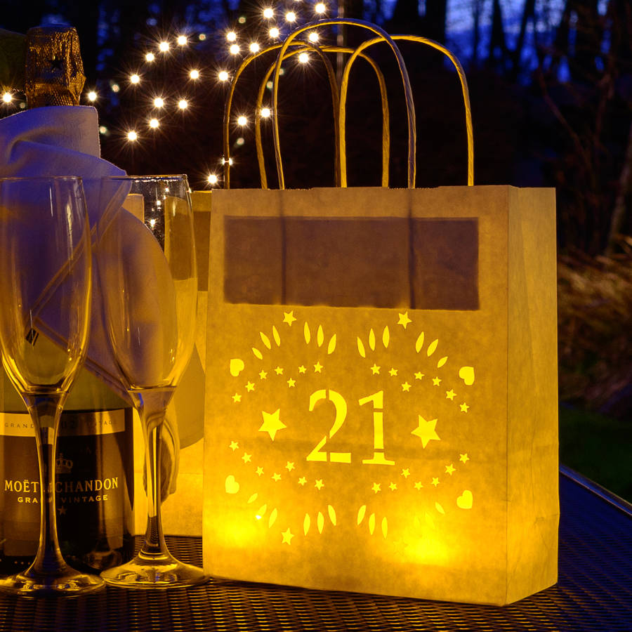 21st Birthday Paper Lantern Bag Party Decoration By