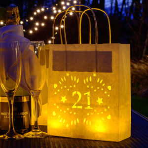 21st Birthday, Party Decoration Lantern Bag - lanterns & party candles