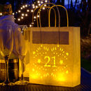 21st Birthday Paper Lantern Bag Party Decoration