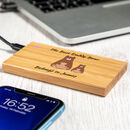 Personalised Best Daddy Bear Power Bank