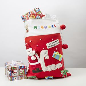 Christmas List Personalised Sack
