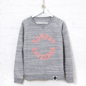 Sunday Savasana Sweatshirt, Grey
