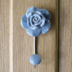 Flower Ceramic Hallway Bedroom Coat Hooks - winter sale