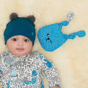 Elky Knitted Hat With Ears - babies' hats