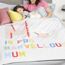 Personalised Marvellous Mum Blanket