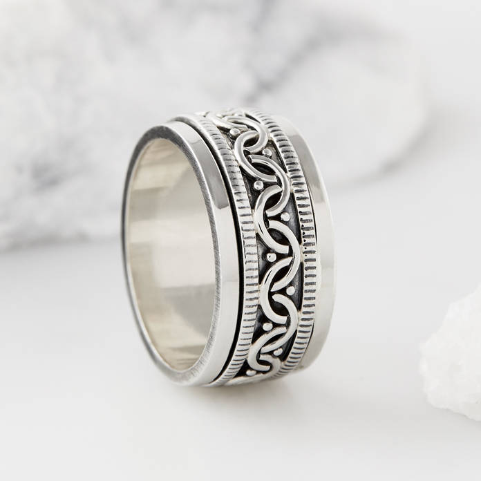 Celtic Bravery Spinning Ring