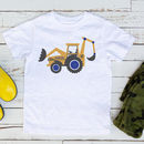 Personalised Digger Children's Tshirt