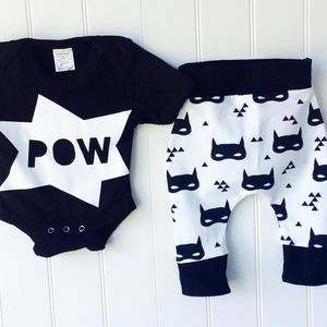 Batman Inspired Baby Outfit - clothing