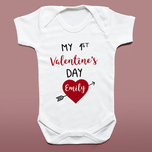Personalised First Valentine's Babygrow - first valentine's day