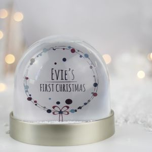 Personalised First Christmas Snow Globe - baby's first christmas