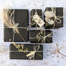 100% Recyclable Black, White And Kraft Gift Wrap Set