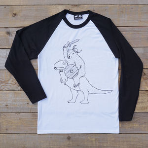 Bear And T Rex Raglan Top