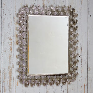Fair Trade Zanie Silver Rectangular Mirror - mirrors