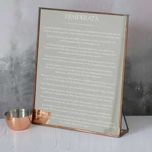 Copper Desiderata Mirror - dining room