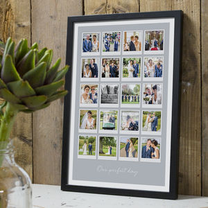 Personalised Retro 20 Photo Album Print - summer sale