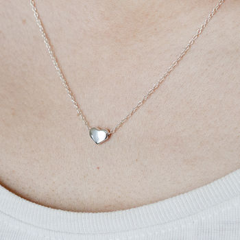 Classic Sterling Silver Heart Necklace And Chain