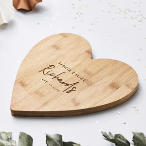 Personalised Heart Chopping Board - best valentine's gifts for her