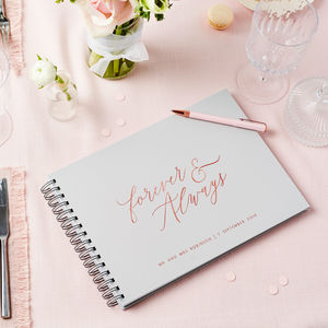 Personalised Forever And Always Guest Book - summer sale