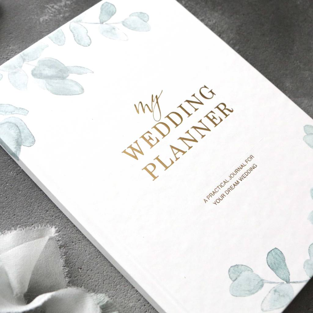 wedding planner book eucalyptus engagement gift by blush and gold