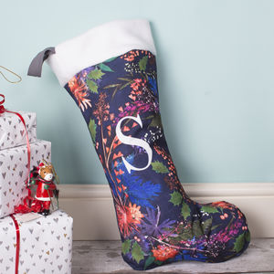Personalised Festive Christmas Stocking Decoration - stockings & sacks