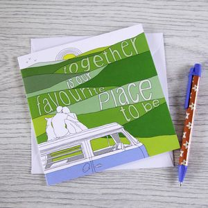 Campervan Greetings Card 'All Together' - anniversary cards