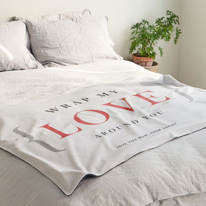 'Wrap My Love Around You' Personalised Blanket Gift