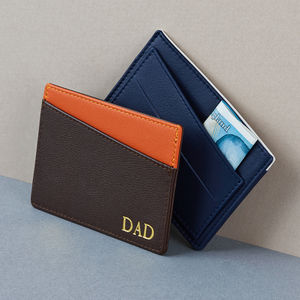 Personalised Card Wallet For Him
