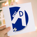 Personalised Football Father's Day Card