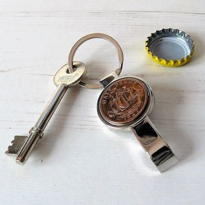 Bottle Opener Keyring With Coin - utensils