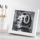 Personalised Milestone Birthday Photo Box Frame