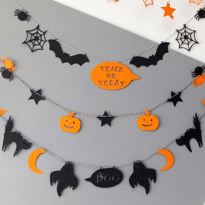 Halloween Spooky Shapes 5m Bunting - party decorations