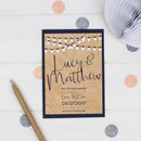 String Lights Save The Date Card Or Magnet