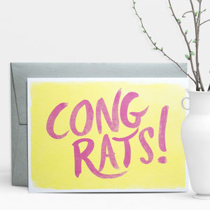 Congrats! Brush Greeting Card