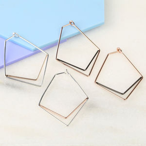 Slim Chevron Hoop Earrings - gifts for her