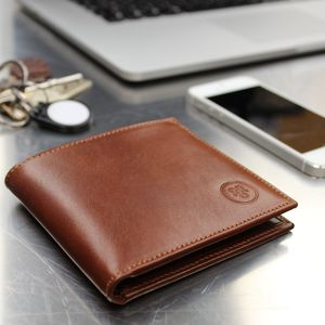 Personalised Leather Wallet Father's Day Gift.'Vittore' - more