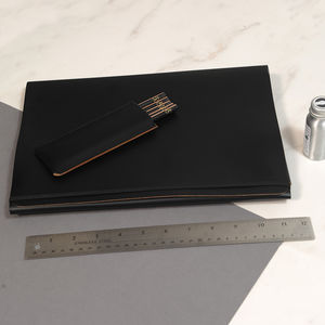 A4 Leather Document Portfolio - desk accessories