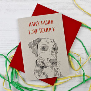 Dalmatian Dog Easter Card