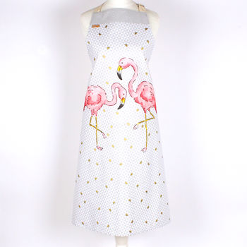 Tropical Flamingo Apron